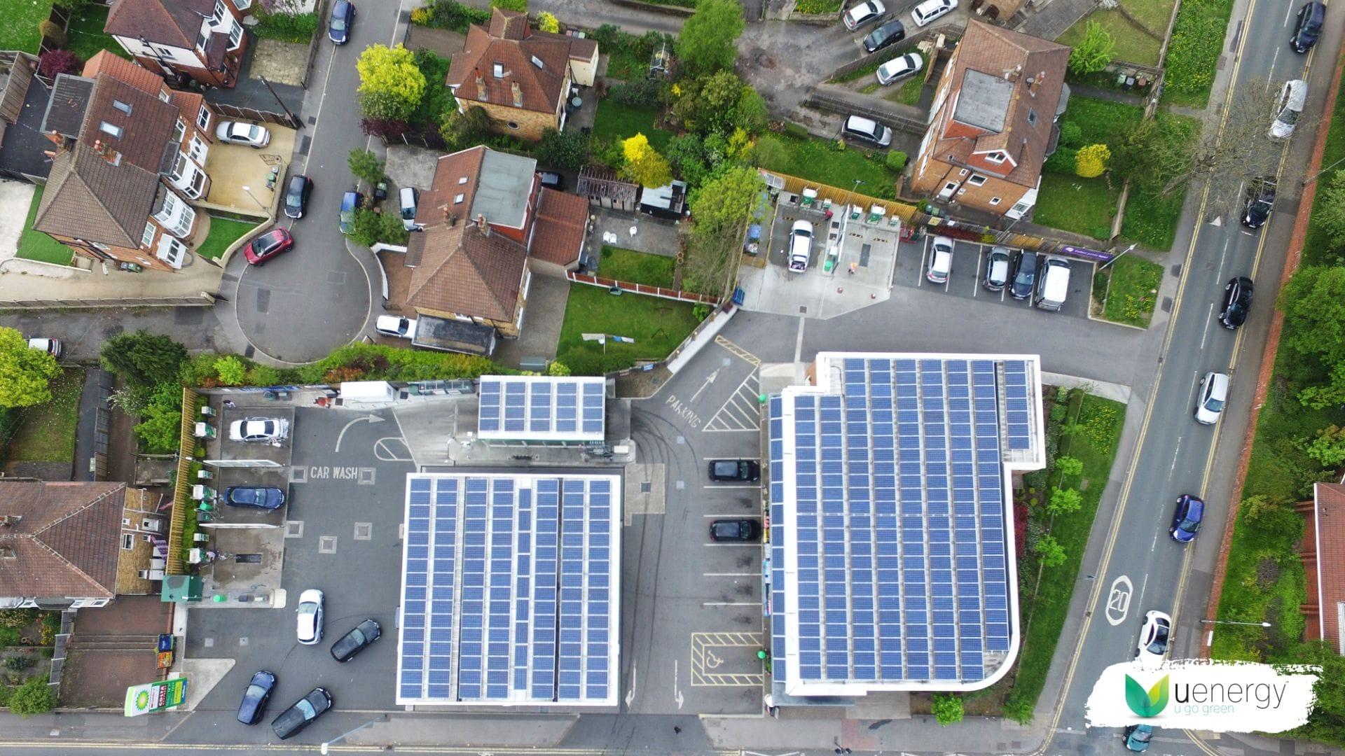 Solar Panels System At Euro Garages Petrol Station by U Energy Solar UK