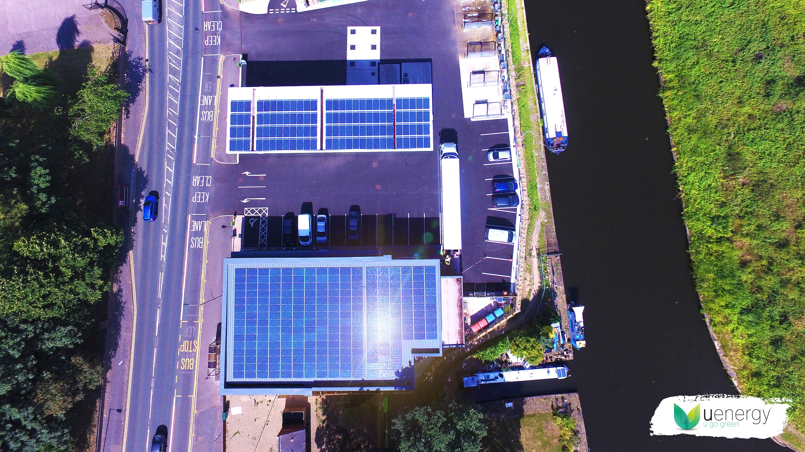 Solar Panels System At Euro Garages Petrol Station by U Energy Solar UK