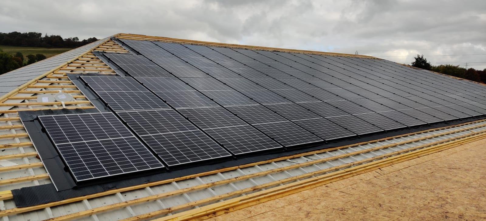 Spar Wolsingham In Roof Solar PV System Panels - UK